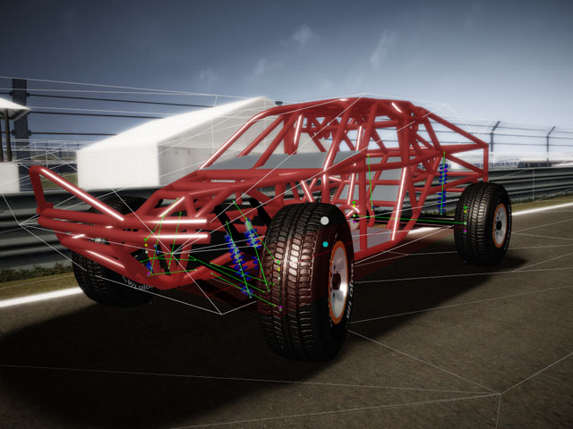 Free racing simulator with open structure